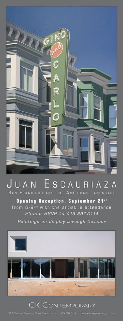 Upcoming Exhibition: Juan Escauriaza: San Francisco and the American Landscape