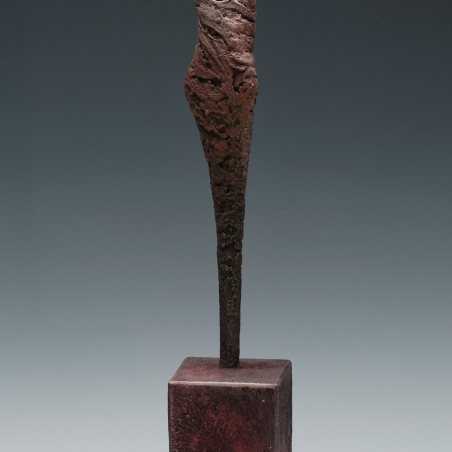 Sol y Luna, Bronze, Signed and numbered in the sculpture base, 20 x 3 1/2 x 3 1/2