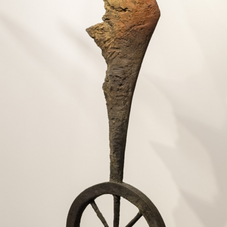 Angel on Wheel (Life Size), 2013, Bronze, Number 7/25, 6 feet x 20 inches x 18 inches