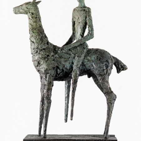 Cavalier (small), 1996, Bronze, Signed and numbered at base, Numbered 7/12, 25 x 17 x 5 3/4 inches