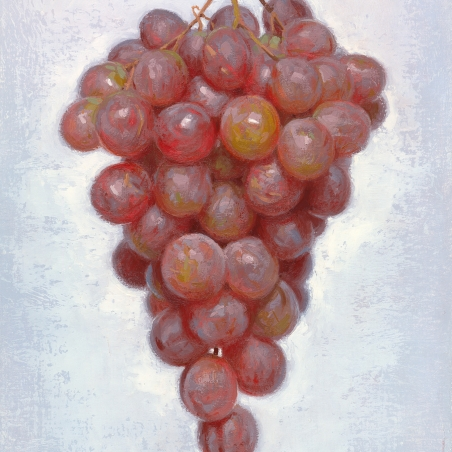 Bunch of Grapes, 2014, oil on linen, Signed bottom right, 12 x 9 inches