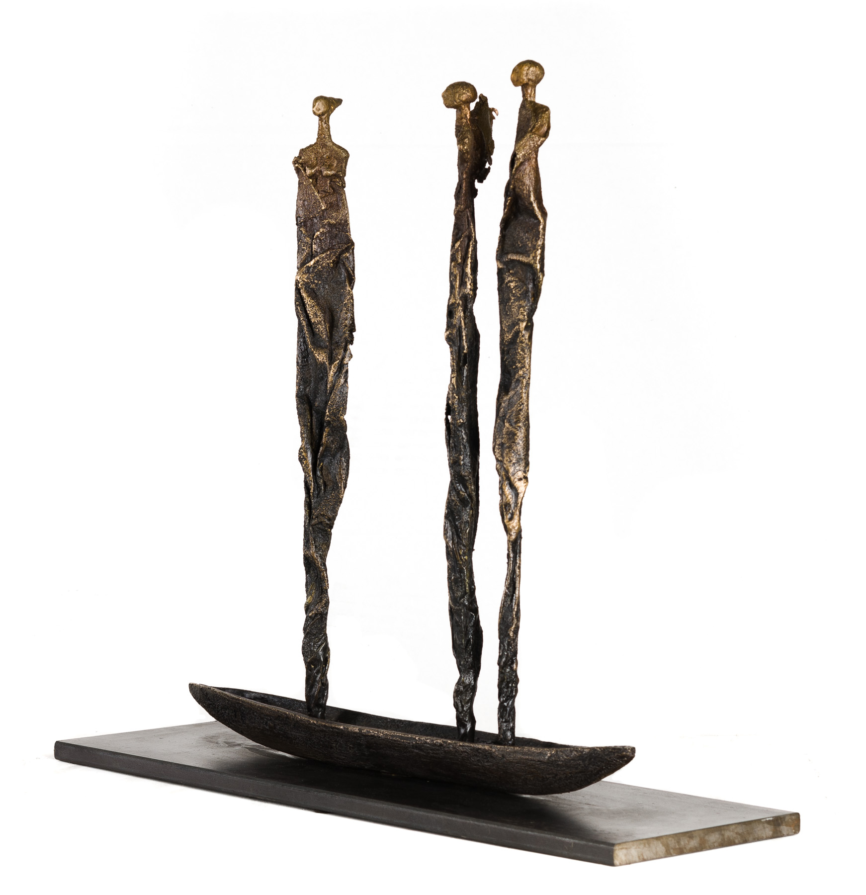 Reaching, 2016, bronze, signed at base, unique, 21 x 18 x 6 inches