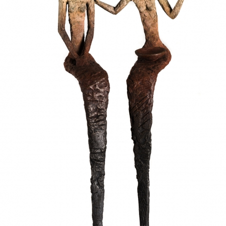 Chismosas, bronze, signed at base, edition of 20, 14 x 25 x 8 inches