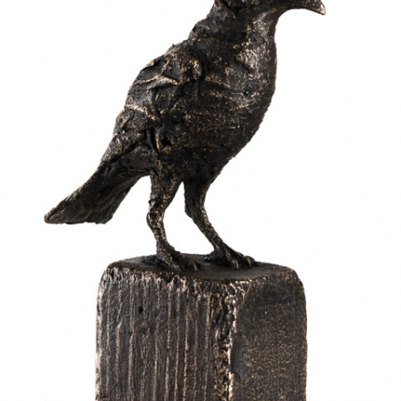 Raven (small), 2016, Bronze, signed with date at base, edition of 25, 10 x 7 x 3 inches