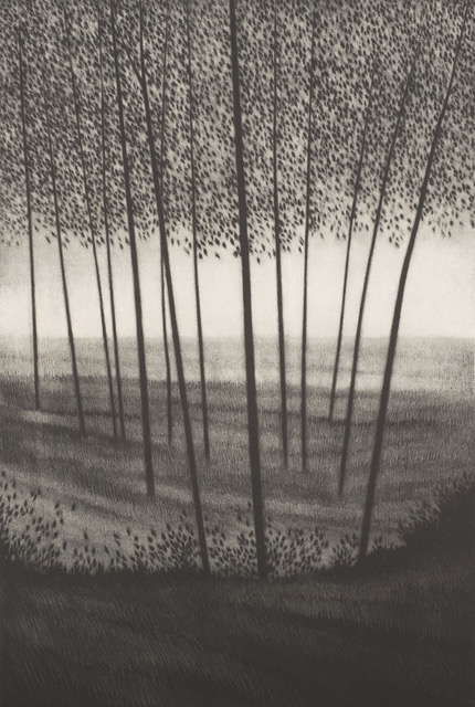 Tomorrow, 2012, Mezzotint, 14 x 9.25 inches