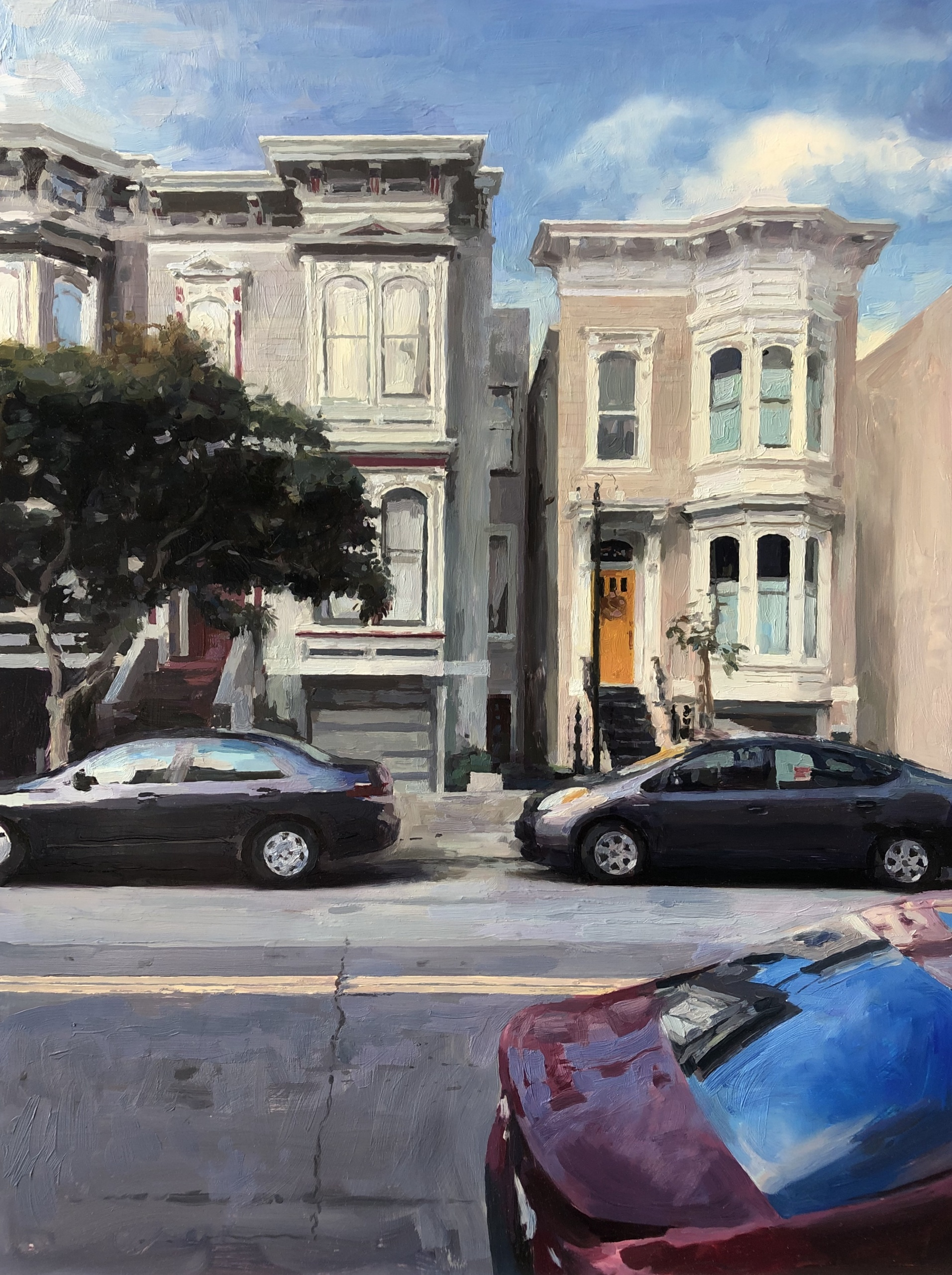 The Yellow Door, San Francisco, Oil on panel, 24 x 18 inches