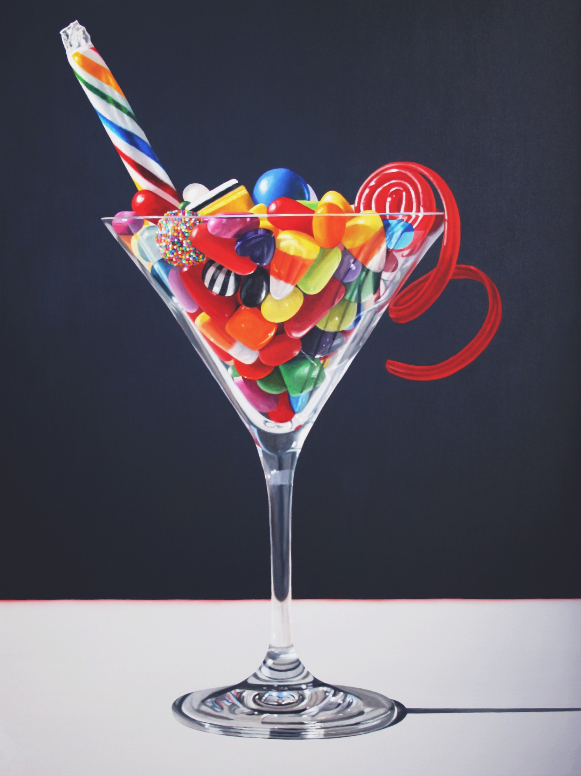 Sweetini,  2020, Oil on canvas, 48 x 36 inches